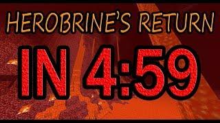 Herobrine's Return Speedrun in 4:59.2 (World Record)