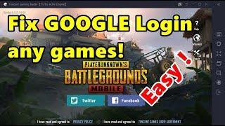 How To Fix Google Login (play Games) Tencent Gaming Buddy Emulator