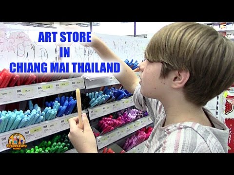 GOING TO THE ART STORE - CHIANG MAI, THAILAND
