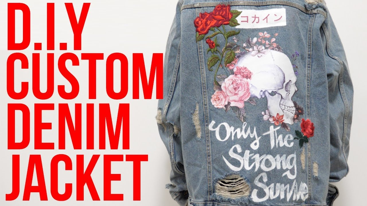 Diy Custom A Denim Jacket Youtube