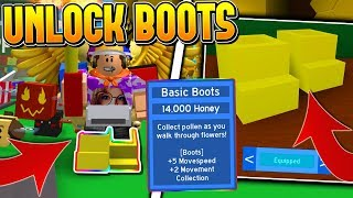 HOW TO UNLOCK BOOTS IN ROBLOX BEE SWARM SIMULATOR! *SUPER OP*