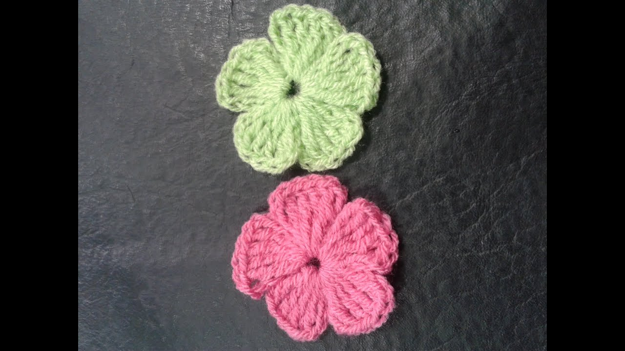 Como Tejer Flores De 5 Petalos A Crochet Muy Facil How To Make Flowers Of 5 Petals Woven Easy Youtube