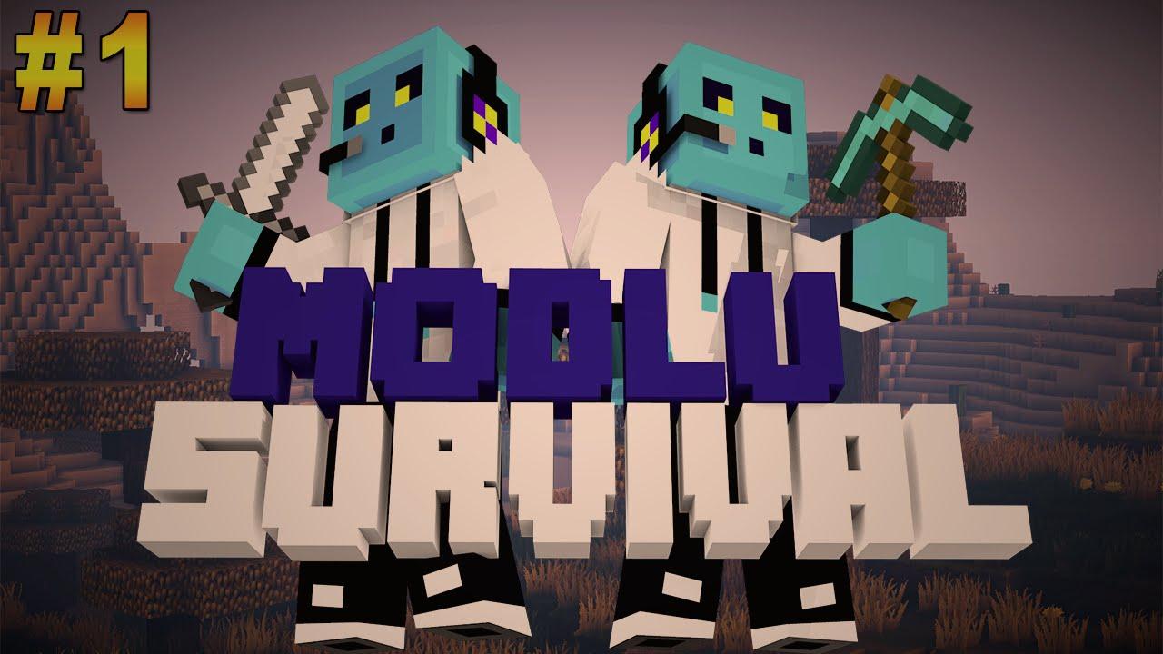 Minecraft Modlu Survival Bölüm 1 Ev Youtube