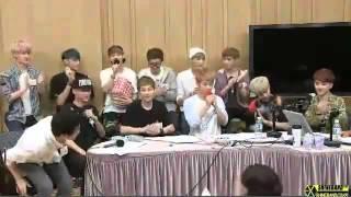 130808 붐의 영스트리트 Boom`s Young Street 엑소 EXO 끝부분 영상