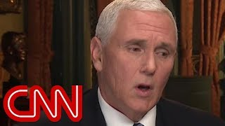 Critics mock Pence's awkward Trump defense