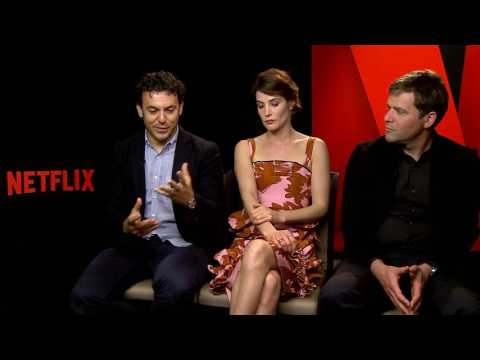 Netflix - Friends From College - Cobie Smulders & Fred Savage & Nick Stoller interview full