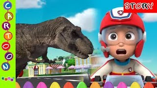 Paw Patrol The Rescue Of The City From Dinosaurs - Nursery Rhymes-Finger Family ◕‿◕ KidsF