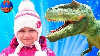 Влог едем с Ярославой на Выставку Динозавров - Парк Динозавров - Детские развлечения