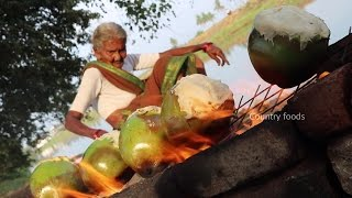Coconut Chicken || Cooking Chicken In green Coconut By Our Granny