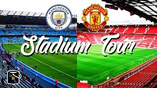 ⚽ Manchester City & Man United Football Stadium Tour - Old Trafford vs The Etihad