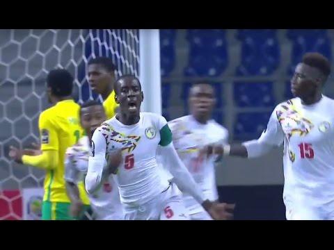 Afrique du Sud 3-4 Sénégal   CAN U20 2017 (Groupe B - 2ème journée)