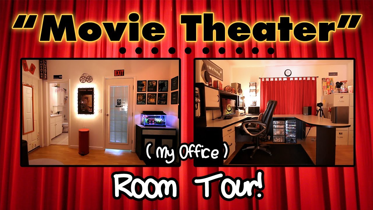 My Quot Movie Theater Quot Office Room Tour Youtube