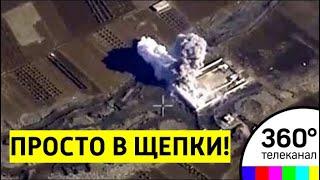 Опубликовано видео ударов по окружившим российских военных боевикам