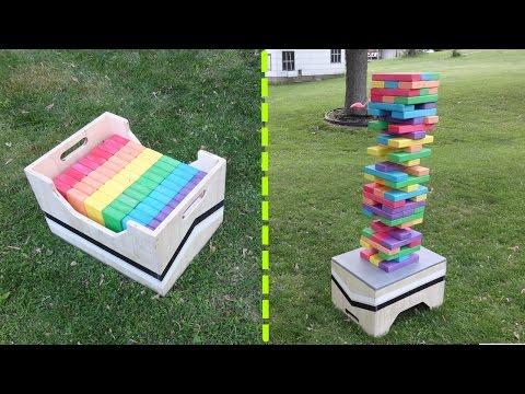 DIY Giant Jenga Game Table / Storage Box