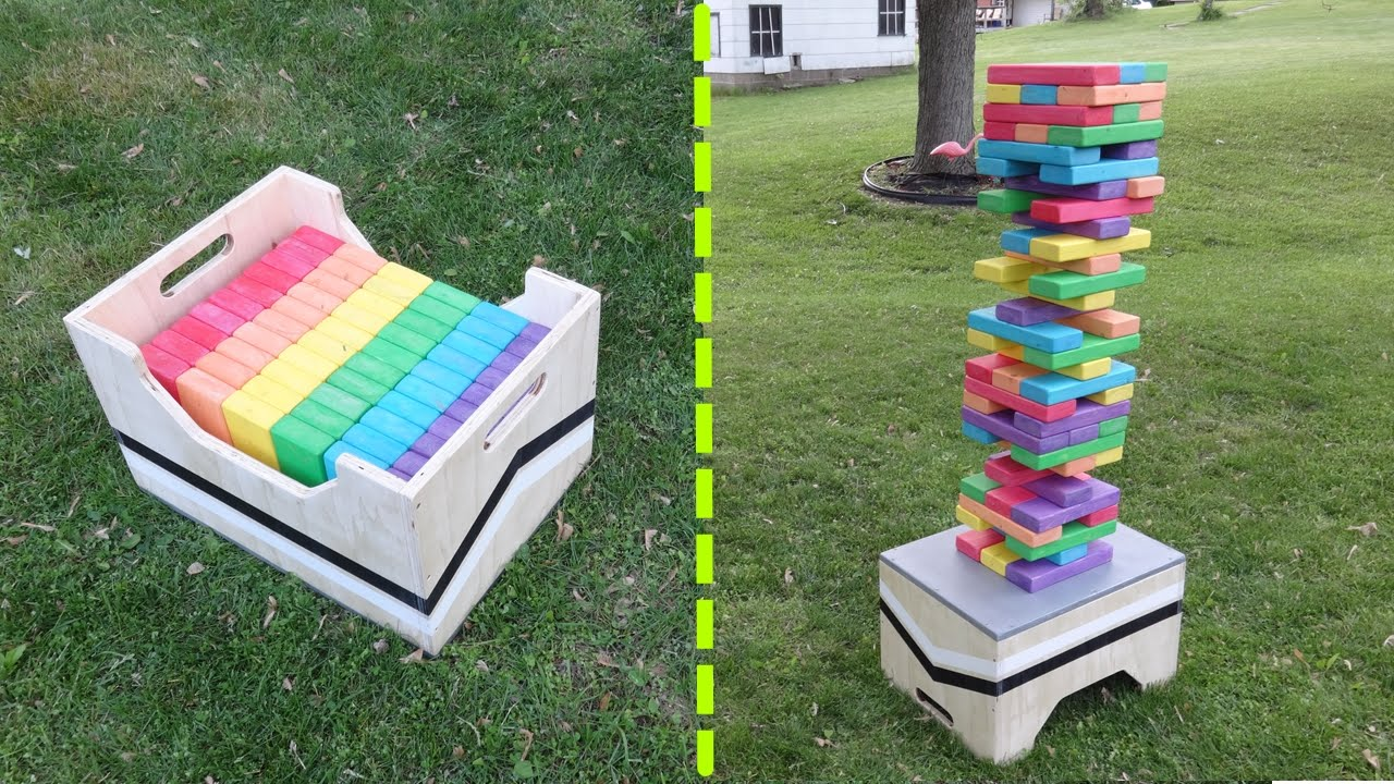 Diy Giant Jenga Game Table Storage Box