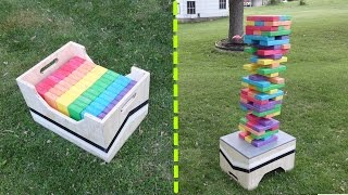 DIY Giant Jenga Game Table / Storage Box