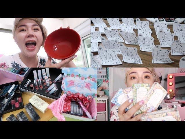 半臉PK續集💥  送禮物、隱眼開箱、驚喜禮盒...跟著我一整天 | 沛莉 Peri