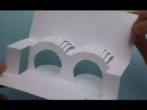 Double Arched Bridge Pop Up Card Tutorial Origamic Architecture