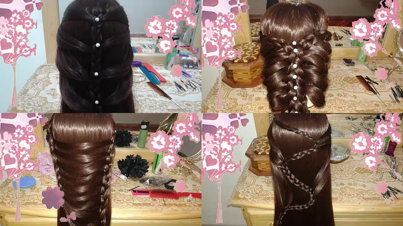 4 peinados faciles bonitos y rapidos con trenzas para niña con cabello largo el mejor en 2015