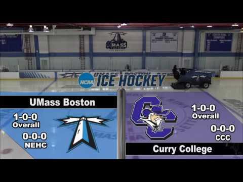 UMass Boston Men's Hockey Vs. Curry College (10/28/17) Webcast
