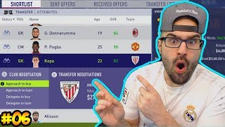WOW WE SIGNED THE NEW DE GEA!! $40,000,000 - FIFA 18 Career Mode Real Madrid #06