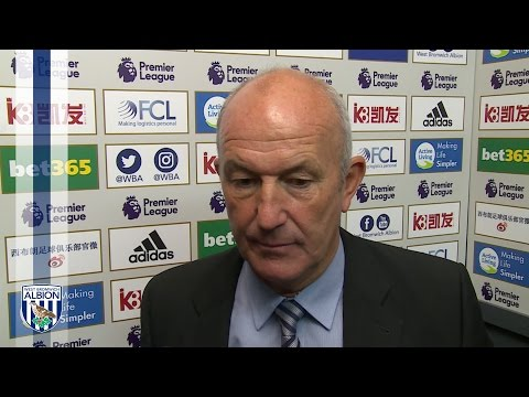 Tony Pulis reacts to 4-2 win over West Ham United at The Hawthorns