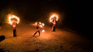 Фаер шоу ANTARES, огненное шоу Одесса, 5 человека + 2,5 минуты пиротехники