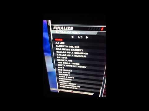 WWE 2k15 No custom music