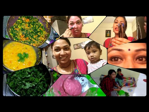 Healthy #Vlog|dinner special Methi mysore pappu|Carrot|skin #Brightening face pack|mana inty tip's.