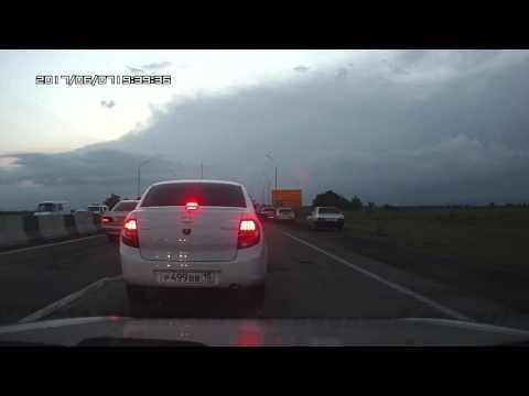Осетия, трасса Владикавказ - Ардон. Авария. BMW.