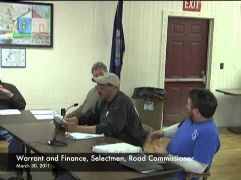 Warrant and Finance - Selectmen - 03-30-2011