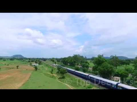 Indian Railway Aerial view by Drone, Chitrakoot, Uttar Pradesh