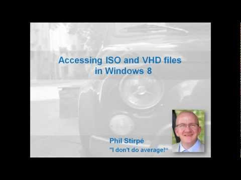 Accessing ISO And VHD Files In Windows 8