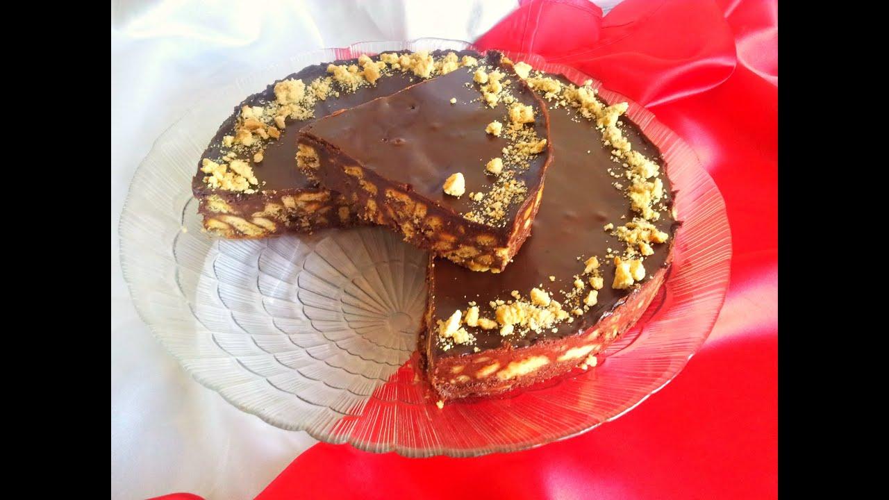 Торт без выпечки с какао