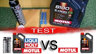 Ceratec liqui moly + Motul 8100 X-Clean Fe 5W30 vs Motul 8100 X-Clean Fe 5W30 TEST