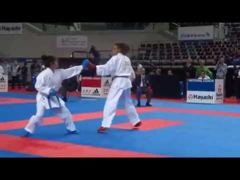 Switzerland vs Chile Female Kumite -61kg - 2014 World Karate Championships