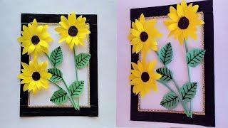 Diy | Sunflower Wall Decor | Diy | Room/home Decoration | Diy | Paper Wall Hanging