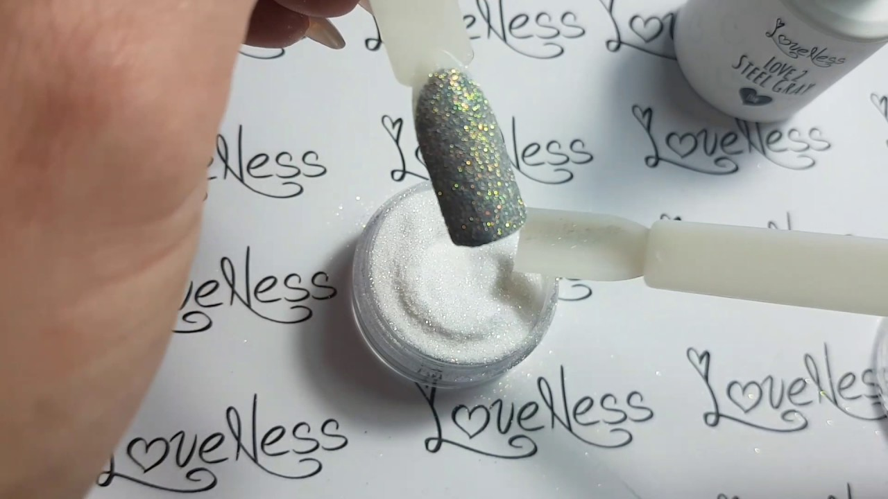 How to apply LoveNess Sugar Nails Glitter - YouTube