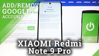 How to Add and Remove Google Account in XIAOMI Redmi Note 9 Pro – Sign in Google Account