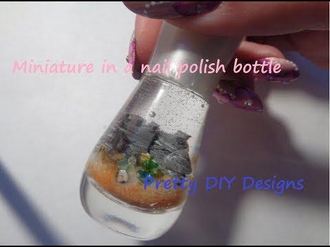 Tiny Rock Castle on a Beach in a Nail Polish Bottle