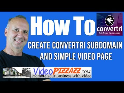 Best Marketing Funnel Builder - Create A Convertri Subdomain And Simple Video Page