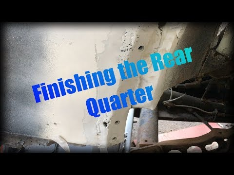 VW Beetle Rear Quarter Panel Repair Part 2