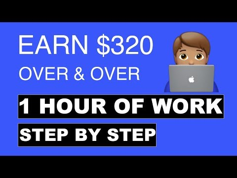 💸EARN $320 IN 1 HOUR STEP BY STEP (MAKE MONEY ONLINE)