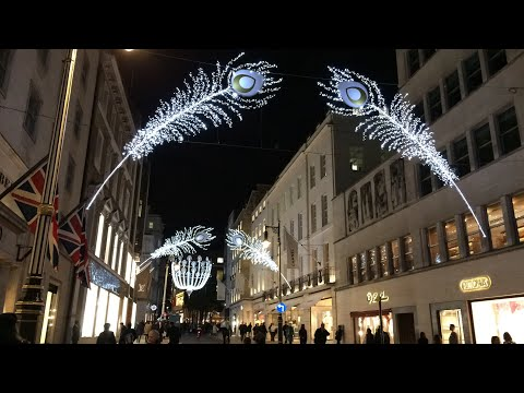 London  Christmas Lights Bond Street