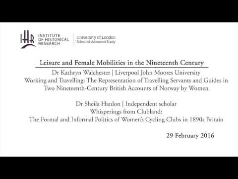 Leisure and Female Mobilities in the Nineteenth Century
