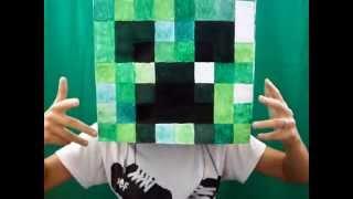 Бумажный Minecraft: Огромная голова Крипера