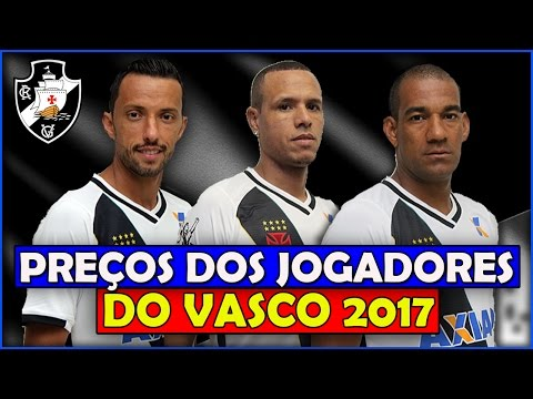 Preço dos Jogadores do Vasco da Gama 2017 - Quanto Vale Seu Jogador?