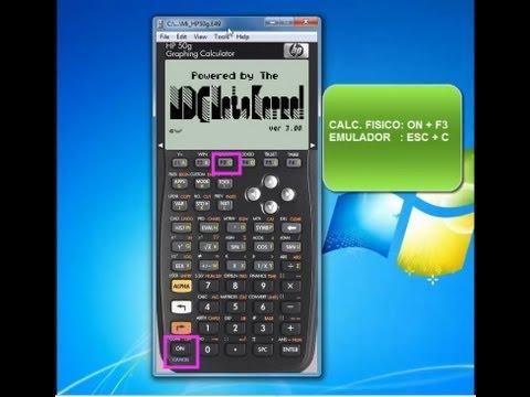 Reiniciar calculadora HP 50g