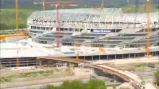 Die Bauphase der Allianz Arena im Zeitraffer