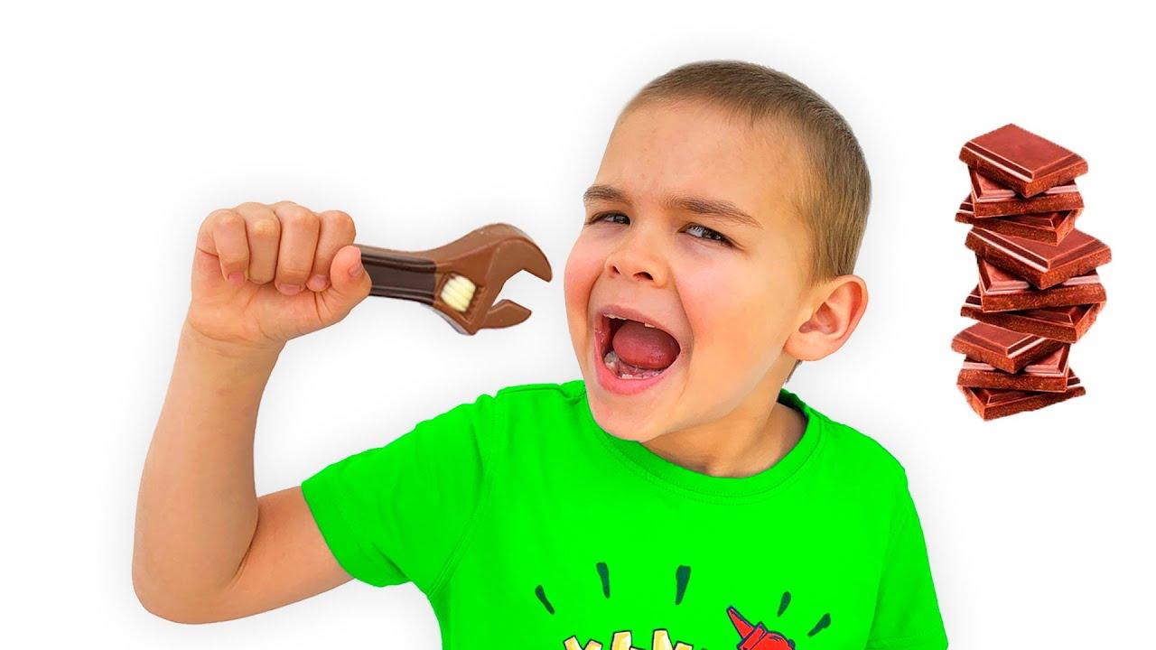 Діма і Папа історія для дітей про шкідливі солодощі та цукерки